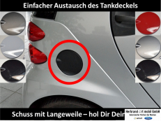 Tankdeckel Fortwo 451 weiss